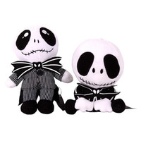 Wholesale Baby Jake - Nightmare Christmas Jack Plush Toy 20-25cm Cute Skull Standing Sit Jake Stuffed Soft Dolls Skellington Plush Doll OOA2839