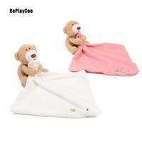 Wholesale towel teddy bear resale online - pacify Saliva towel bibs mamas plush doll infant bed stuffed toy pacify Saliva towel Baby Bibs teether little plush doll infant bed stuffed