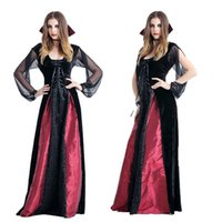 Wholesale Adult Indian Costumes - Cosplay adult Halloween costume vampire queen witch dress uniform DS costumes Party dance