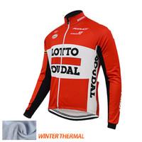 camisas de ciclismo lotto venda por atacado-Camisa de ciclismo de Inverno Roupas de Ciclismo Lotto Souda ropa ciclismo invierno hombre 2015 moto maillot inverno térmica de lã ciclismo
