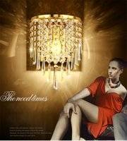 Home Crystal Wall Sconce Lamp Pendant Light Fixture Iluminação Chandelier LED Bed