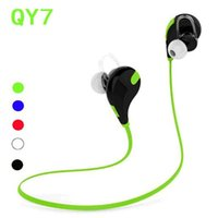 Wholesale Handsfree For Lg - new qy7 in ear bluetooth stereo headset wireless earphone handsfree sport headphone with mic for lg iphone samsung