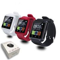 se watch оптовых-U8 Smart Bluetooth часы Наручные часы U8 U часы для iPhone 4S 5 5S 6 6 S SE 7 Samsung S4 S5 S6 S7 Примечание 6 7 HTC Android телефон смартфоны