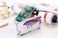 saydam sıvı glitter kasa not için toptan satış-Glitter Aşk Koşu Quicksand Sıvı Dinamik Hard Case temizle şeffaf parlayan Kapak iphone 5c 6 artı galaxy s6 s7 not 4 300 Adet