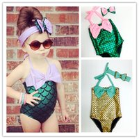 Wholesale Cute One Piece Swimsuit Bow - Hug Me New Korean Baby Girls One-Pieces Kids Girl Swimwear Baby Swimsuit Ruffle Bow Princess two Pieces Swim Cute Clothing BB-626