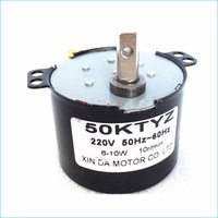 Wholesale Synchronous Motors Free Shipping - 50KTYZ 220V ac Permanent magnet Synchronous electric motor,Reversible Controlled Low speed micro motors,Free Shipping J15022