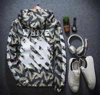 Wholesale Long Sleeve Vest For Men - off white jackets for men women winder breaker bomber jacket hip hop jaqueta softshell outdoor streetwear sport jacket