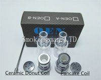 Wholesale One V - Wax Dry Herb Atomizer Ceramic Donut Pancake vaporizer OEN XVAPE V ONE AI WAX OIL CONCENTRATE VAPORIZER MOD 510 THREAD TANK VS skillet tank