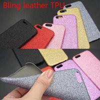 Wholesale Bling Iphone Leather Back - Luxury Bling Leather Cases Bling Diamond for iPhone 5 6 4.7 5.5 plus back cover shell case