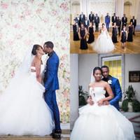 Wholesale red irregular skirt resale online - 2017 Summer Irregular Neckline Wedding Dresses African Strapless Applique Tulle Ball Gown Wedding Dresses Plus Size Bridal Gowns Vestidos