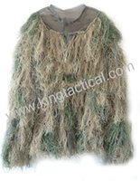 Wholesale Ghillie Suit Camo - Wholesale-Camo Jungle Yowie Camouflage Ghillie Bionic Training Bowhunting Suit for Hunting