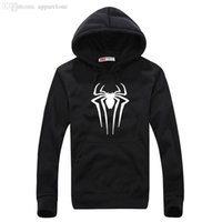 Wholesale Spiderman Pullover - Wholesale-New Spiderman Sweatshirt Men Hoodies Fashion Solid Hoodie Mens Sports Suit Pullover Men's Tracksuits Moleton Masculino