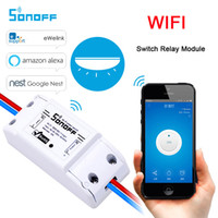 Wholesale home smart device resale online - Sonoff Wifi Smart Wireless Switch Remote Control Automation Relay Module Universal DIY Smart Home Domotica Device A V AC V