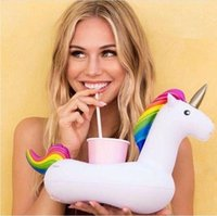 INS Unicorn Duck Mini Swim Ring Galleggiante Gonfiabile Drink Cuscino Titolare Sottobicchieri Anello Tazza di Bagno Unicorno Anatra Giocattoli da Bagno DHT89