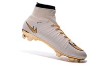 Wholesale Football Cleats Size 12 - 2017 New Football Shoes Mercurial Superfly FG Men Cleats Hot Sell Soccer Boots Original Discount Striped Sports Shoes Size US 5-12