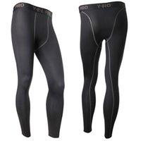 Wholesale Flat Wear Wholesale - Wholesale-New Men's Compression Base Layer Pants Long Tight Under Skin wear Gear Bottom L4 KR2