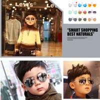 flieger für mädchen großhandel-HEISSE Kindersonnenbrille-Kind-Strand-Versorgungsmaterial-Sonnenbrille-UVschutzbrillenbabysonnenbrille für Jungen Mädchen-Sonnenschutzkindflieger