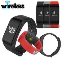 Wholesale Sleep Monitoring - bluetooth F1 smart watch Fitness Tracker Wristband Heart Rate Monitor Smart Band Smartband Blood Pressure With Pedometer Bracelet
