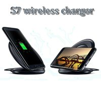 Wholesale Blackberry Docks - Universal Wireless Charger Vertical Charging Pad Cell phone charger dock For Samsung Galaxy Note5 S6 Edge Plus S7 S7 EDGE S7 EDGE PLUS