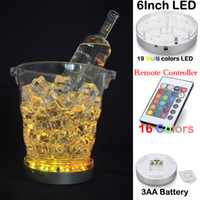 RGB Multicolors LED Light 3AA Batteries Base Remoteledled IR Under Jarrón Table Fabric Lighting para Wedding Party Décor