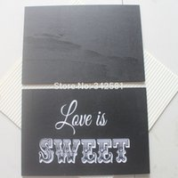 Wholesale Antique Chalkboards - 22x15cm BLACKBOARD SIGN CHALKBOARD ANTIQUE WHITE WORDS VINTAGE WEDDING SHABBY CHIC LARGE Wedding Party Decor