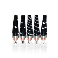 Wholesale Ego Black Stainless - Black Drip Tips Glass Drip Tips For E Cigs Stainless Steel 510 Mouthpiece For EGO Atomizers Tanks Glass Drip Tips For E Cigs