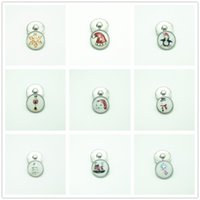 Wholesale Glass Easter Ornament - mini 12 mm Snaps Snap Charm Holiday Ginger Chunky Jewelry Snowflake Ornament Snap Button crystal glass Christmas Decoration DIY charms