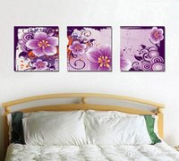 Wholesale beautiful flower art painting resale online - Modern Beautiful Flower Peach Blossom Painting Giclee Print On Canvas Home Decor Wall Art Set30361