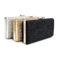 Wholesale Silver Rhinestone Evening Bags - Woman Evening bag Women Diamond Rhinestone Clutch Crystal Day Clutch Wallet Wedding Purse Party Banquet Black Gold Silver