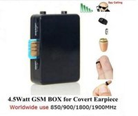 Wholesale Exam Earpiece - wireless remote covert exam talking gsm box built-in mic with quality covert FBI earpiece & drop ship