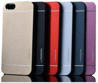 Wholesale Iphone5 Case Brushed Aluminum - For Iphone 7 Luxury Metal Motomo Aluminum Brushed Hard Case For iPhone5 6 Plus Samsung S7 S6 Edge DHL Free SCA107