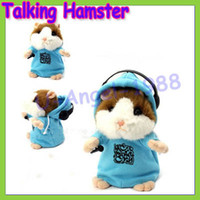 Wholesale Toy Teddy Bear China - et toys china Free shipping+Talking Hamster Mouse Vole Headphone Pet Plush Toy Hot Cute Speak Talking Sound Record Hamster Drop Ship Whol...