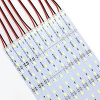 ingrosso contatori in alluminio-5630 SMD 72 LED 100CM LED strisce rigide luci per mercato notturno Gioielli contatore vetrina in alluminio lampada dello strato