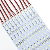 mercados de joyería al por mayor-5630 SMD 72 LED 100CM LED Tiras rígidas Luces para el mercado nocturno Mostrador de joyería Escaparate Lámpara de hoja de aluminio
