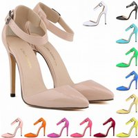 Wholesale Burgundy Patent Leather Platform Heels - Europe Style New Arrived Fashion Ladies Sandals High Heels Stilettos Platform Shoes Woman Sandalias Mujer US Size 4-11 D0009