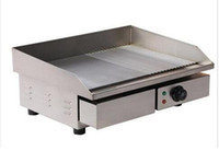 Wholesale Griddles Electric - 3KW 55CM Electric Griddle Grill Hot Plate Stainless Steel Commercial BBQ Grill