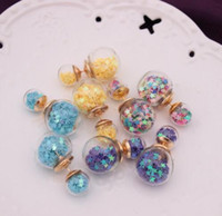 Wholesale Cheap Designer Jewelry For Women - Cute Double Side Glass Bottle Star Stud Earrings Designer Earings Christmas XMAS Cheap China Wedding Bridal Jewelry For Women Fashion Charm