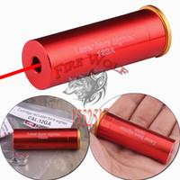 Wholesale Laser Bore Sight Free Shipping - 12 GAUGE 12 GA Cartridge Laser Bore Sighter Boresighter Red Sighting Sight Boresight Red Copper 12GA Shotgun FREE Shipping