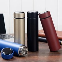 Wholesale Bottled Water Business - 2017 480ML Business cups large capacity cups vacuum stainless steel portable water bottle free shipping