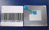 ingrosso etichette magnetiche-Trasporto Libero all'ingrosso EAS SOFT TAG SOFT MAGNETIC STRIP 1000PCS / PACK 3 * 3CM 8.2MHZ RF CODICE A BARRE / EAS SOFT RF ETICHETTE DI SICUREZZA ETICHETTA SOFT