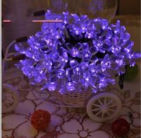 tubo de burbuja de iluminación al por mayor-Luz de Navidad 50 LED RGB Cadenas Cuerdas de acrílico Burbuja Lluvia Bola Lámpara Tubo Luz Navidad Fiesta de bodas Decoración navideña Lámparas Luz solar