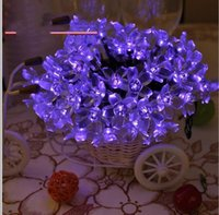 blasenrohrbeleuchtung groihandel-Weihnachtslicht 50 LED RGB Saiten Acryl Saiten Blase Regen Kugel Lampe Röhre Licht Weihnachten Hochzeit Urlaub Dekor Lampen Solar Licht