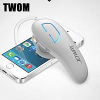 a2dp kulaklıklar toptan satış-2016 Yeni JOWAY H05 MIC ile kablosuz bluetooth kulaklık İş Stil Handsfree Kulaklık A2DP CRS 4.1 kulaklık iphone Android için