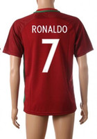 Barato Camisola Grossista Barato Tailandesa-16-17 Custom Thai Quality Cheap 7 RONALDO Soccer JerseyS, Customized 5 F.COENTRAO camisas de futebol, venda por atacado MENS 8 J.MOUTINHO Wear Jersey