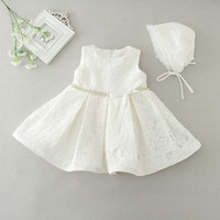 Wholesale Dress Baby Lace Retail - Retail Newborn Baby Girls Princess Dress Lace First Birthday Wedding Party Dress Toddler Baby Girl Dresses E2088