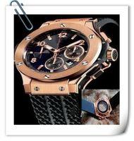 Wholesale Race Style Black - luxury big bang brand new! Luxury men's steel mechanical sports style F1 racing watch, black  gold style, fashion jason007
