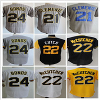 66252913 Baseball Men Short Men Flexbase Stitched Jersey 22 Andrew McCutchen 21  Roberto Clemente 24 Barry Bonds