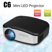 Wholesale pico proyector hdmi resale online - C6 Mini Portable LED Pico Pocket Projector Lumens HDMI USB VGA AV TV LCD Full HD P For Home Theater Video Cinema Beamer Proyector