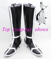 Wholesale Bleach Cosplay Shoes - Wholesale-Bleach Ulquiorra cifer Broken Mask Arrancar cos Cosplay Boots Shoes shoe boot #15YJZ26