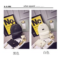 Wholesale White Beading Thread - Miss Han Ban PU leather shoulder bag fashion backpack personality College Wind leisure travel bag schoolbag school students
